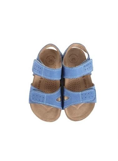 Kids A More Jemma Çift Cırtlı Deri Erkek Çocuk Sandalet Kot   Mavi
